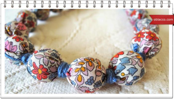 бусы из ткани, шитье