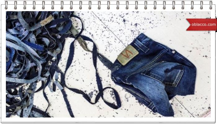 ткачество коврик из старых джинсов