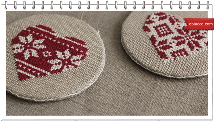Вышиваем крестиком сердечки схемы 789