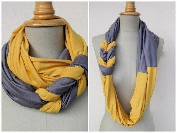 шарф двухцветный