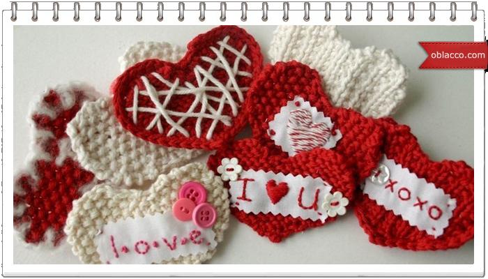 салфетки сердечки вязание крючком схемы Oblacco