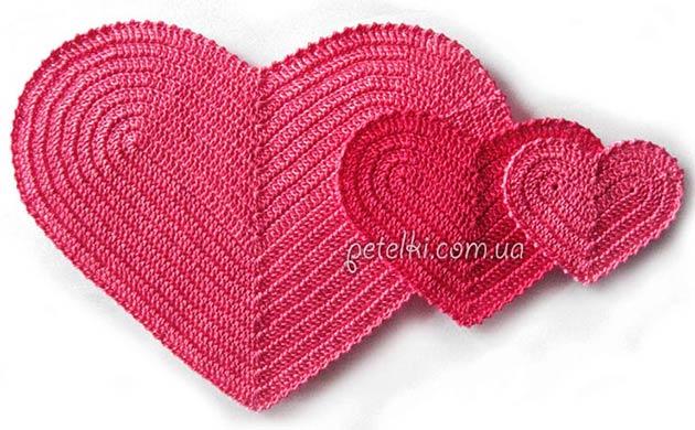 сердечко вязаное крючком