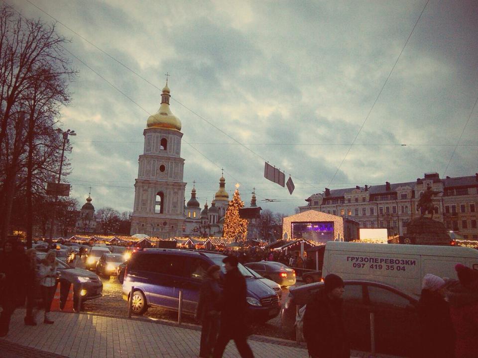 Киев Софиевская площадь