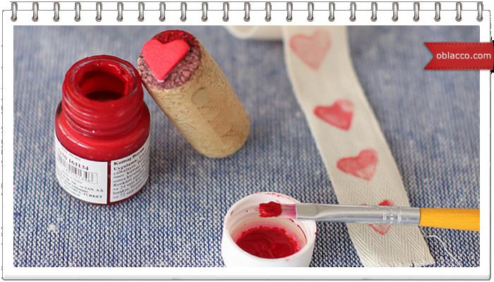 валентинка сердце штамп пробка