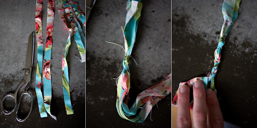 браслет из ткани  мастер класс