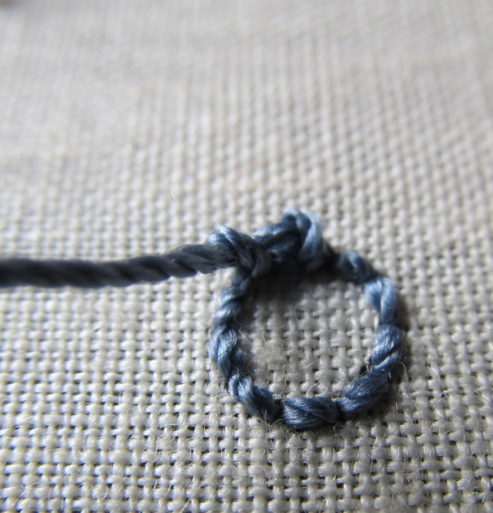 спиральная вышивка