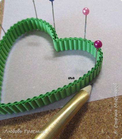 валентинка сердечко квилинг