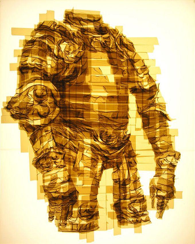 картины из скотча Марка Кайсмана