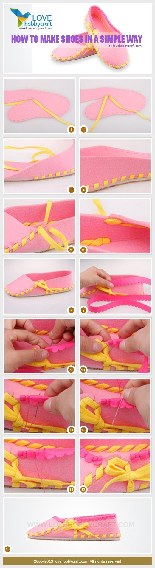 тапочки шитье без иголки