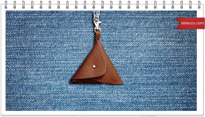 Миниатюрная подвесная сумочка из кожи. МК