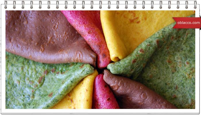 блины цветные на сыворотке