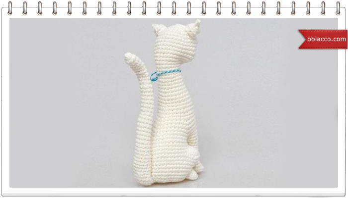 Блондинка). кошки вязание