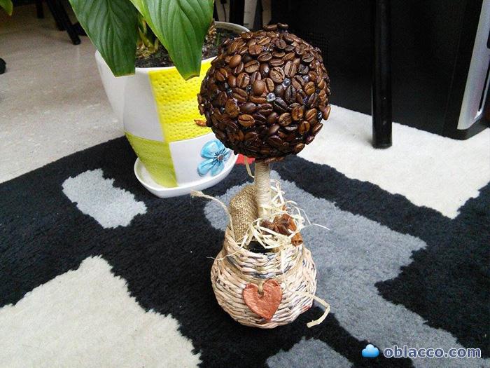 Кофейное дерево - светильник - валентинка