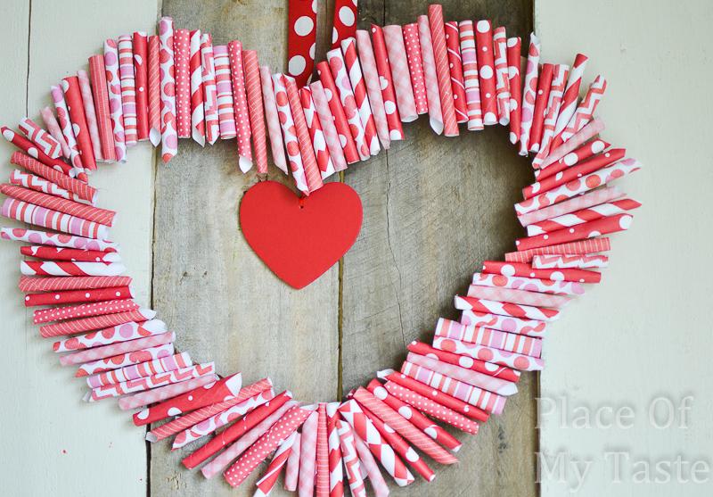 сердечка из бумаги