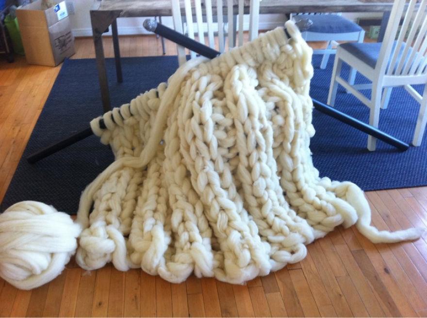 Пряжа толстая для вязания пледа