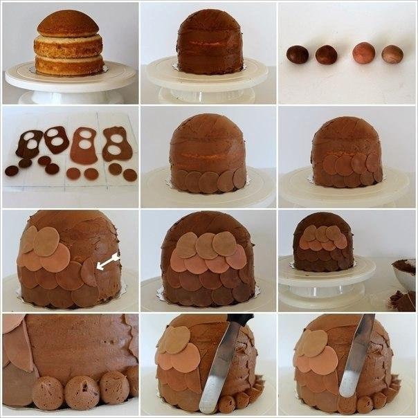 сова оформление тортов