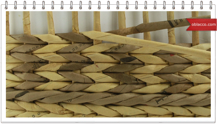 шаблон плетение из газет