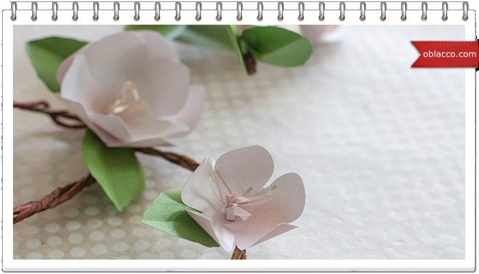 цветы яблони из бумаги