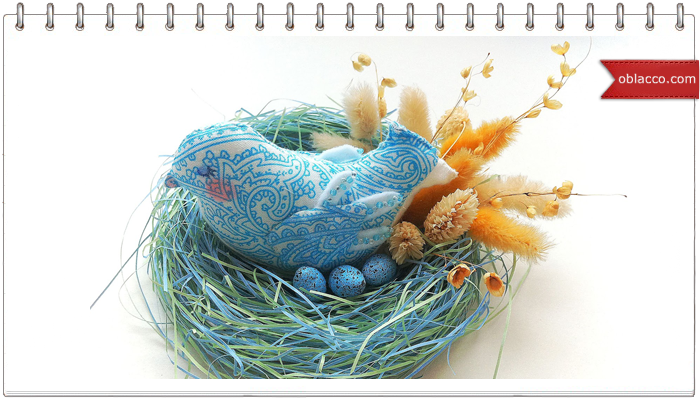 текстильная птичка