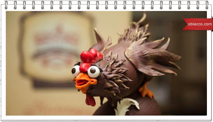 курица и яйцо из шоколада