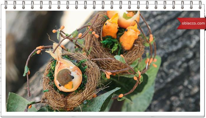 Пасхальный венок для кулича или чаши с крашеными яйцами