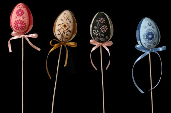 яйца пасхальные с вышивкой